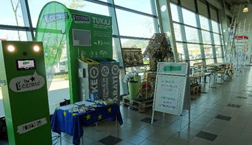 At one of many green corner's events in Slovenia